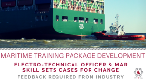 FEEDBACK NEEDED: Maritime Training Package Development