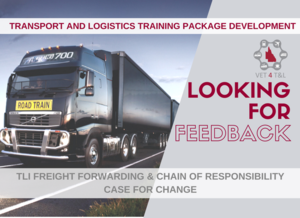 FEEDBACK NEEDED: TLI Freight Forwarding and Chain of Responsibility