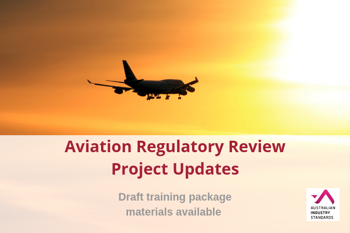 Aviation Regulatory Review Project Updates Available