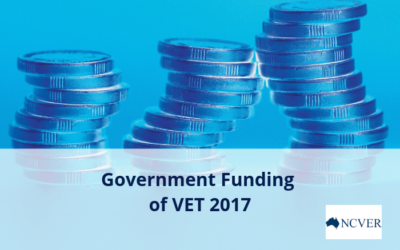 NCVER release publication providing insight into Government funding of VET 2017