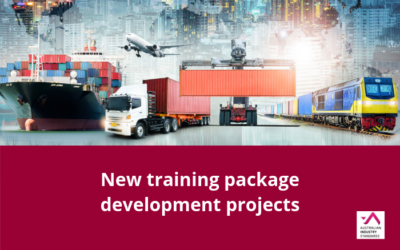 Australian Industry Standards announce new training package development projects