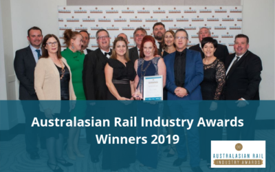 Outstanding achievers recognised at Australasian Rail Industry Awards Gala Dinner
