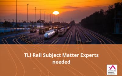 Rail subject matter experts needed