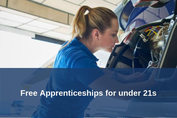 Free apprenticeships for under 21s