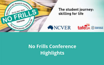 Highlights from the NCVER's 28th No Frills Conference 2019