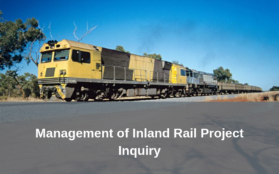 Inquiry into the Management of the Inland Rail Project – Submissions invited