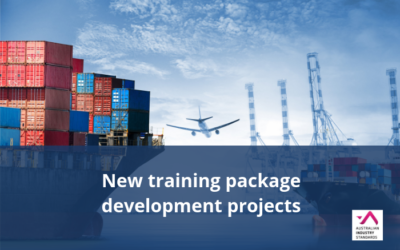 New Aviation and Transport & Logistics training package development projects