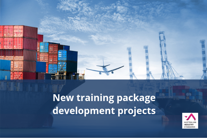 New Aviation and Transport and Logistics training package projects