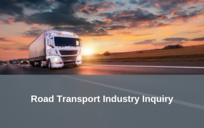 Early responses to the Road Transport Inquiry