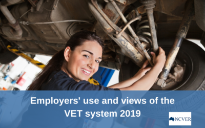 NCVER report – Employers' use and views of the VET system 2019