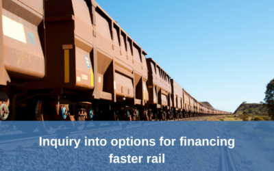 Inquiry into options for financing faster rail – accepting submissions