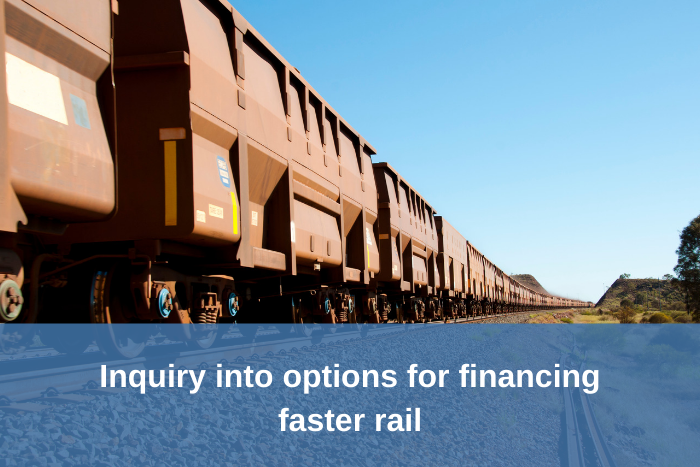 Inquiry into options for financing faster rail