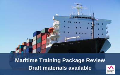 Maritime Training Package Review – Draft materials available for comment
