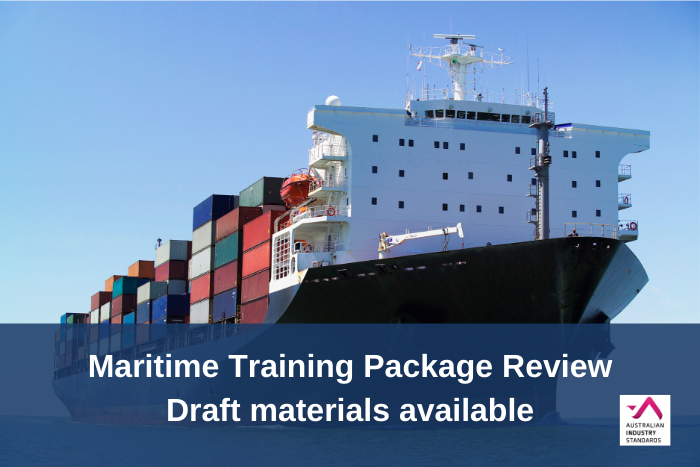 Maritime Training Package Review - Draft materials available