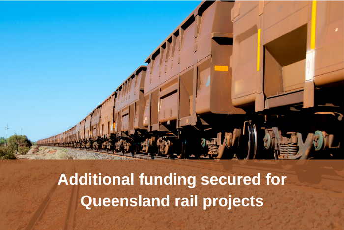 Additional funding for QLD rail projects