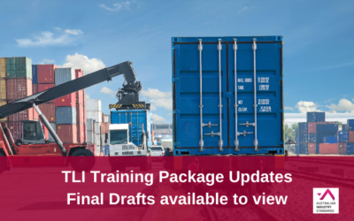 TLI Training Package Updates – Final draft training materials