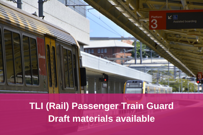 Rail Passenger Train Guard Project - Draft materials available