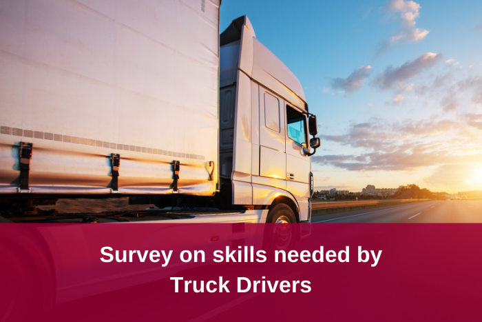 Survey on skills for Truck Drivers