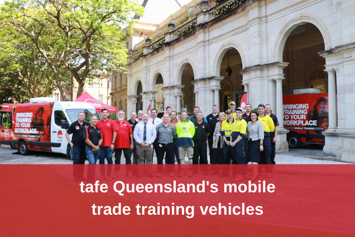 tafe QLD mobile trade training vehicles
