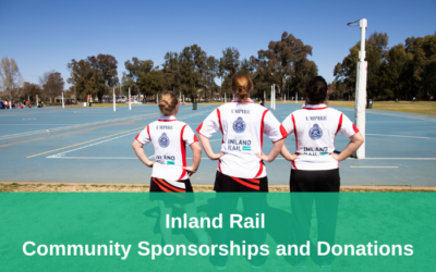 Inland Rail – Community Sponsorship & Donations – Applications open