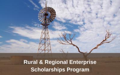 Rural & Regional Enterprise Scholarships Program – Round four applications open