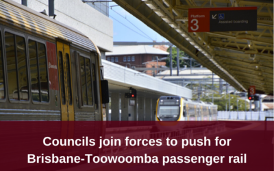 Councils form alliance for Brisbane-Toowoomba passenger rail
