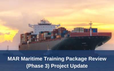 Maritime Training Package Review (Phase 3) – Final draft materials available