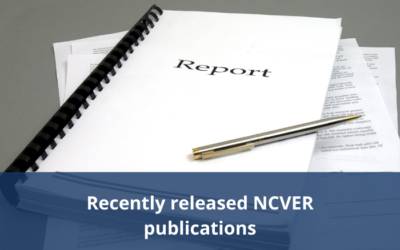 Recently released NCVER publications
