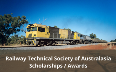Railway Technical Society of Australasia – Scholarships and Awards open for nomination