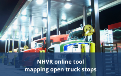 NHVR release online tool mapping open truck stops