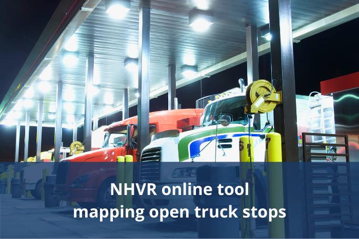 NHVR online truck stop tool