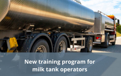 Training program for milk tanker operators