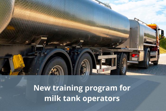 Milk tank operators training program