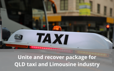 Unite and recover package for Queensland taxi and limousine industry