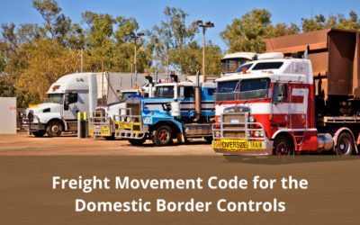Freight Movement Code released for Domestic Border Controls