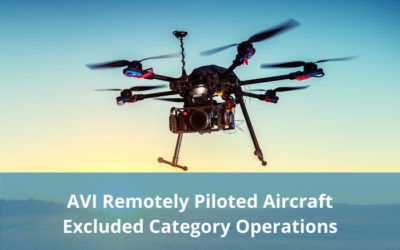 AVI Remotely Piloted Aircraft – Excluded Category Operations Project – draft materials available for comment