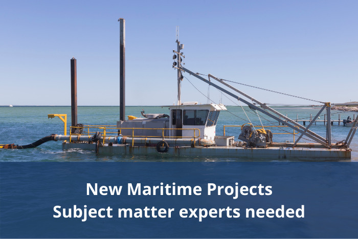 Maritime subject matter experts needed