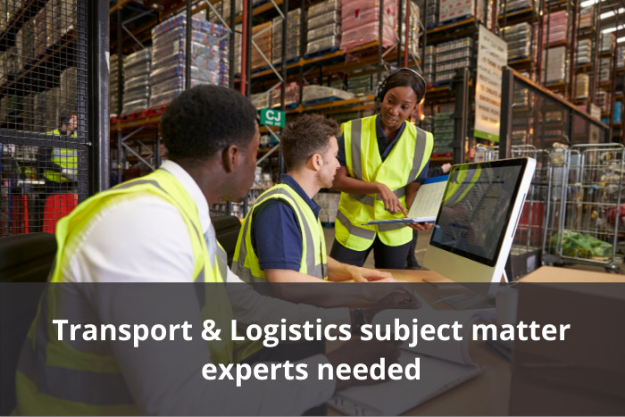 Transport & Logistics industry experts needed