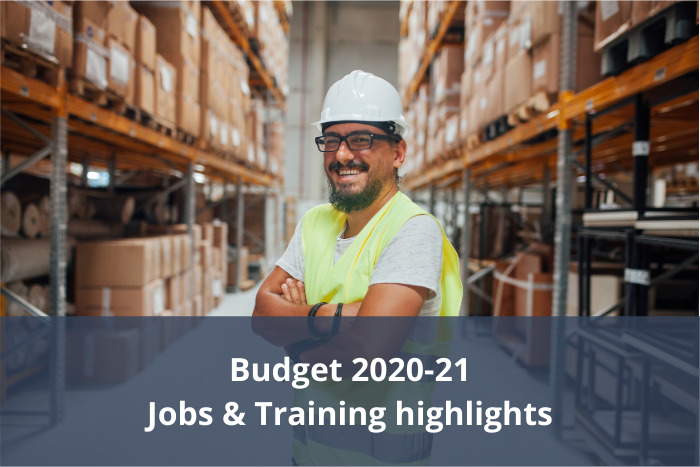 Australian Budget for 2020-21 – Jobs & Training highlights