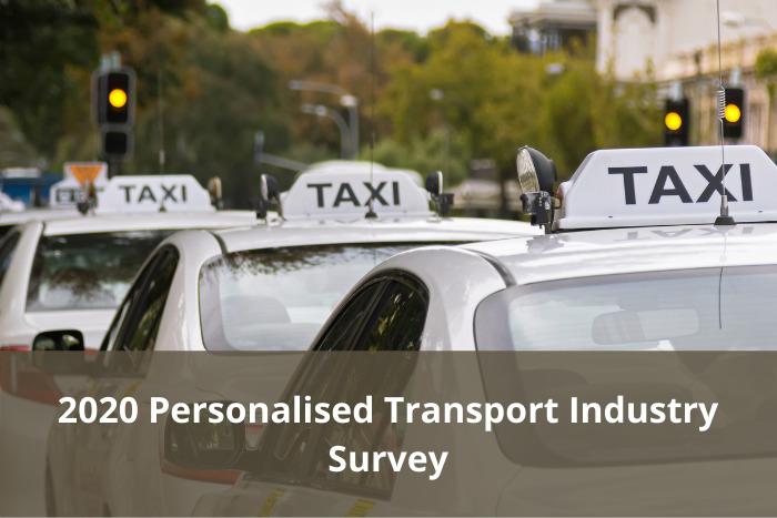 2020 Personalised Transport Industry Survey