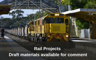Draft training materials available on Rail Projects