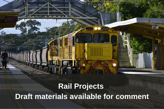Rail Projects - Draft materials available