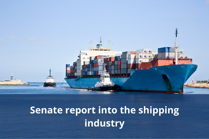 Senate report into the shipping industry