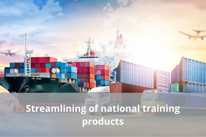 Streamlining of national training products