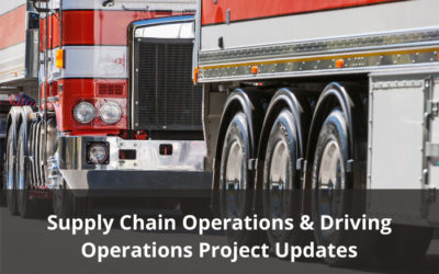 Supply Chain and Driving Operations Project Updates – Draft materials available