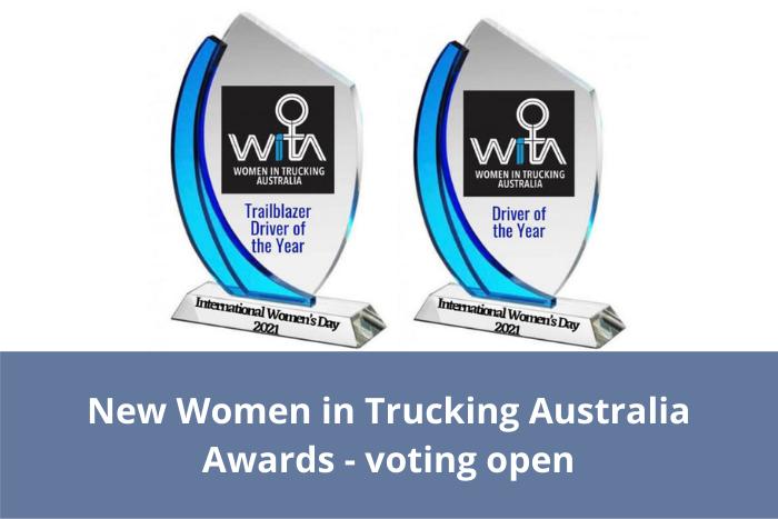 Women in Trucking Australia Awards - voting