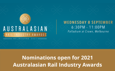 Nominations open for the 2021 Australasian Rail Industry Awards