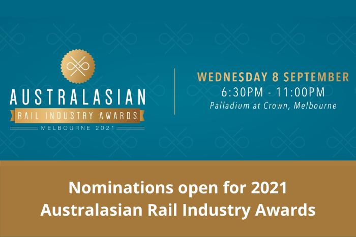 Australasian Rail Industry Awards 2021 - Nominations