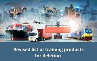 Streamlining of national training products