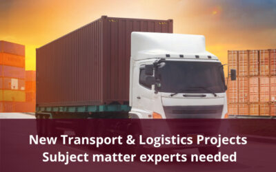 Subject matter experts required for new Transport & Logistics Projects